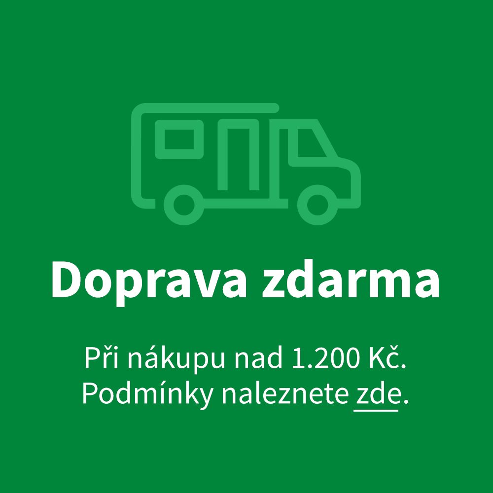 Doprava zdarma nad 1.200 Kč