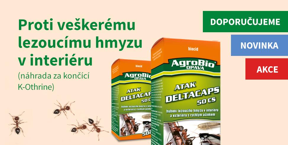 Proti veškerému lezoucímu hmyzu v interiéru (ATAK DeltaCaps 50CS)