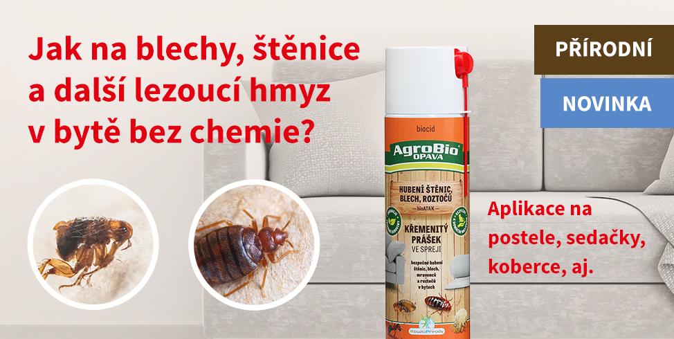 Proti škůdcům v bytě - Křemenitý prášek ve spreji