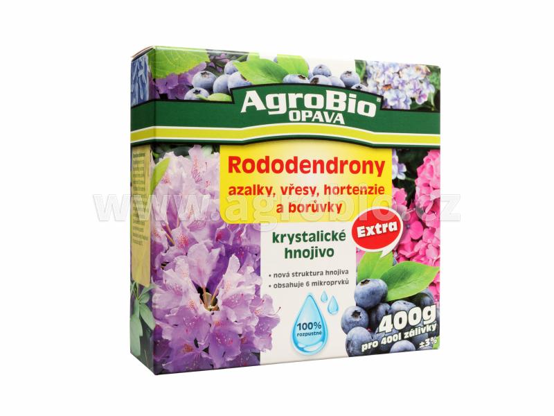 Krystalické hnojivo Rododendrony, borůvky a jiné kyselomilné rostliny