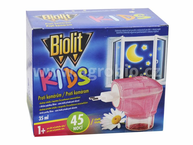 Biolit_elektrický odpařovač_KIDS_proti komárům_35 ml