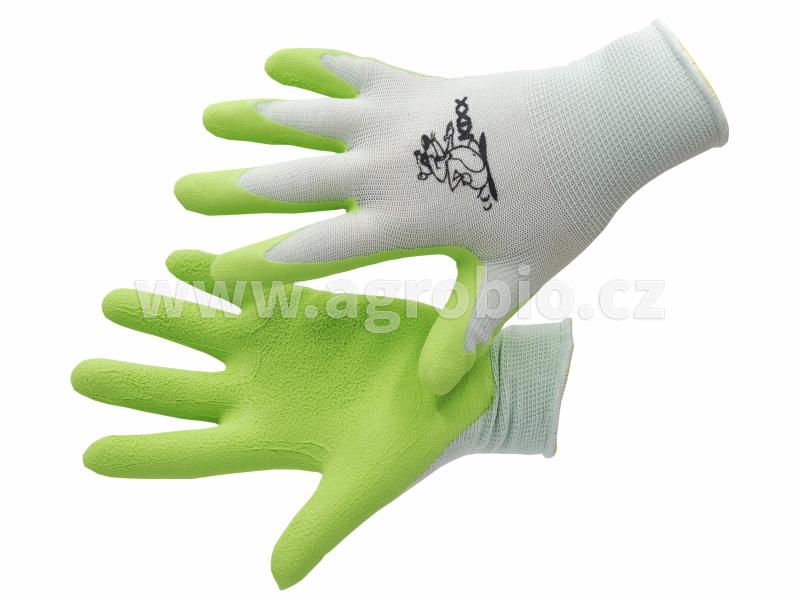 Rukavice dětské FUDGE zelené_ruce