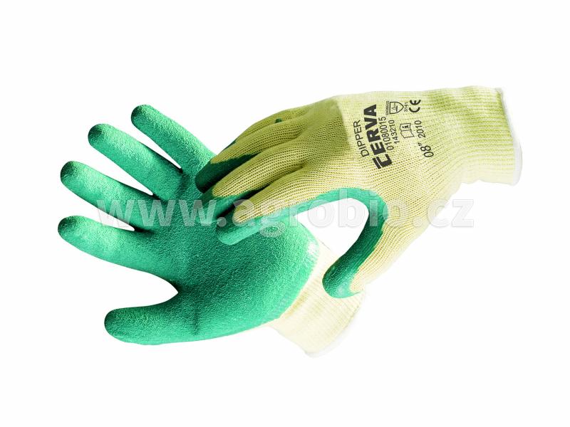 Rukavice DIPPER zelené velikost 7